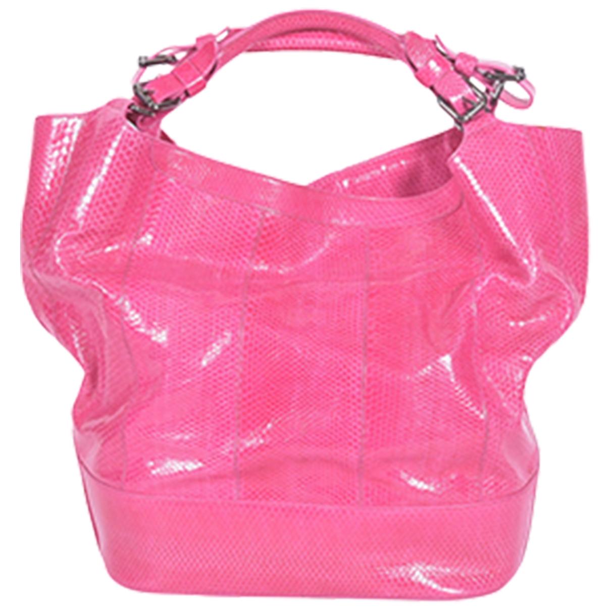 Jil Sander \N Pink Python handbag for Women \N