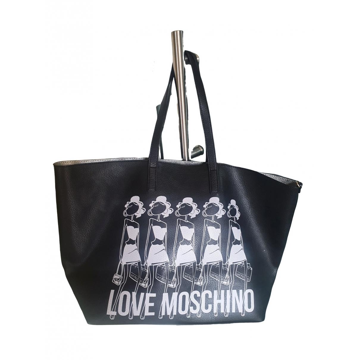 Cabas de Cuero Moschino Love