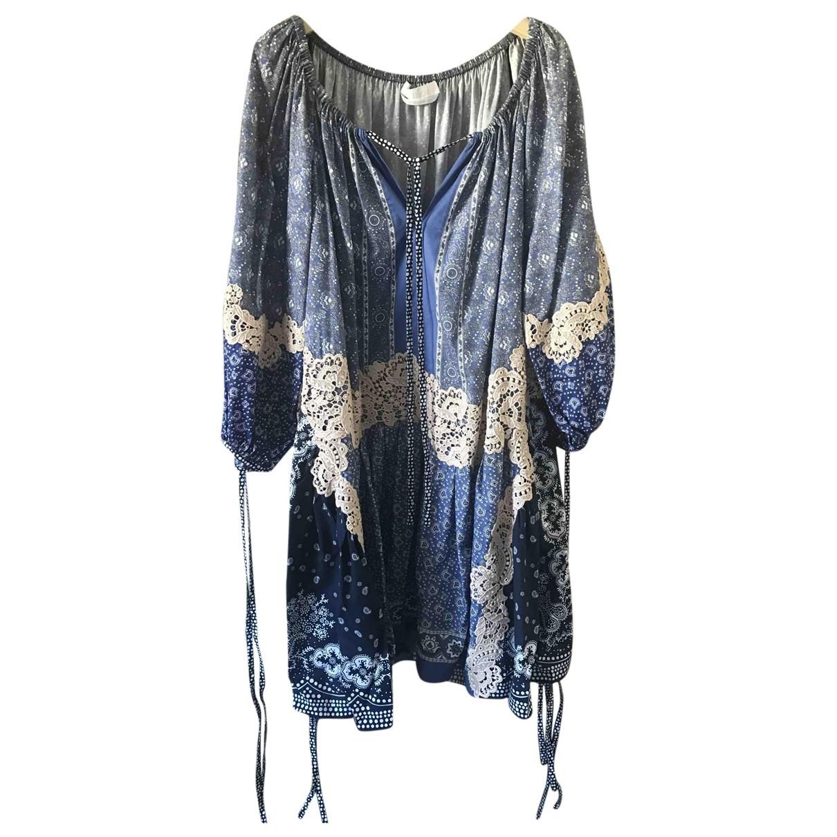Chloé \N Blue Cotton dress for Women 34 FR