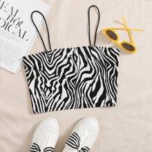 Zebra Striped Cami Top