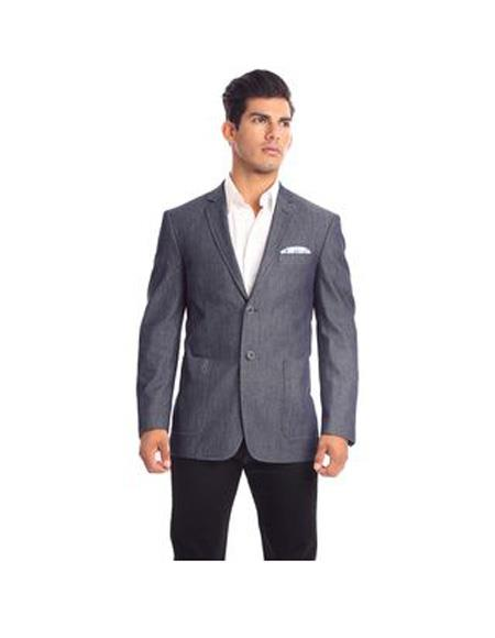 Verno Moretti Men's Notch Lapel Solid Pattern Slim Fit Suit Dark Grey