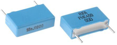 KEMET 10nF Polypropylene Capacitor PP 1 kV dc, 600 V ac ±5% Tolerance Through Hole PHE450 Series (5)