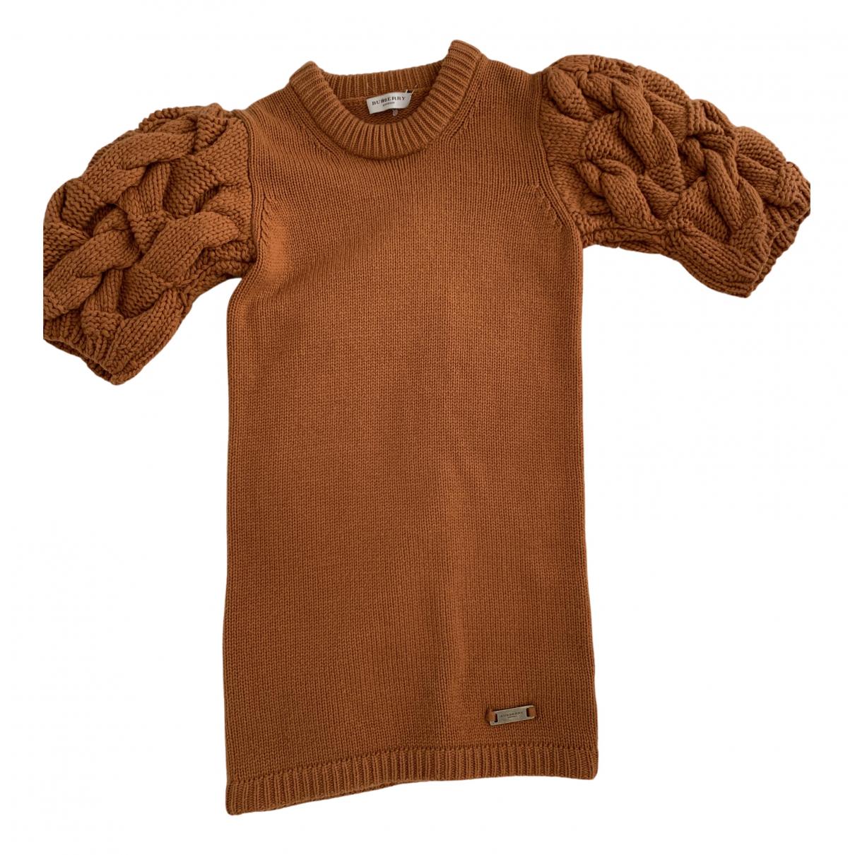 Burberry \N Kleid in  Braun Wolle