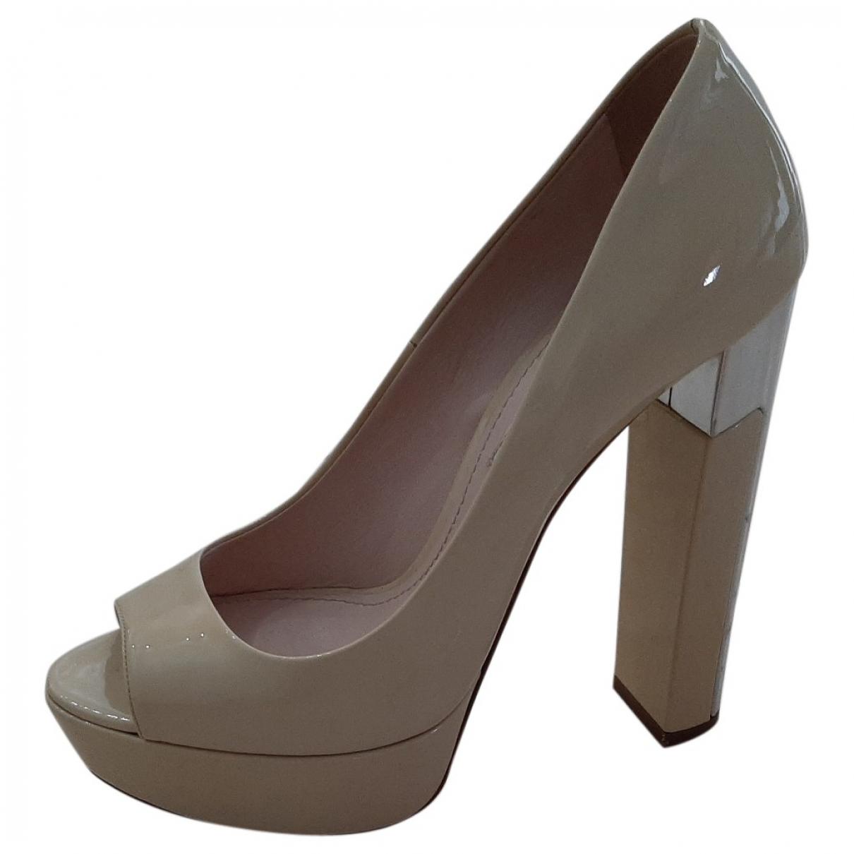 Miu Miu \N Beige Patent leather Heels for Women 36 EU