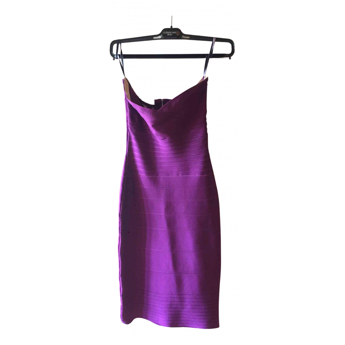 Herve Leger \N Kleid in  Rosa Synthetik