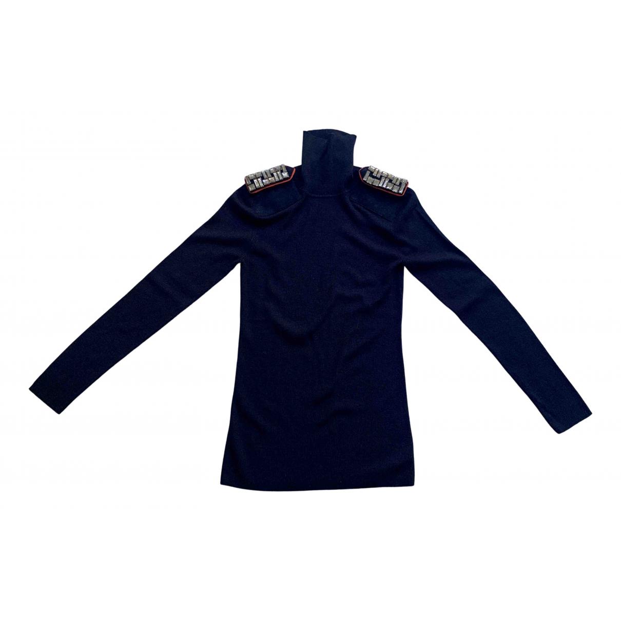Tory Burch - Pull   pour femme en laine - bleu