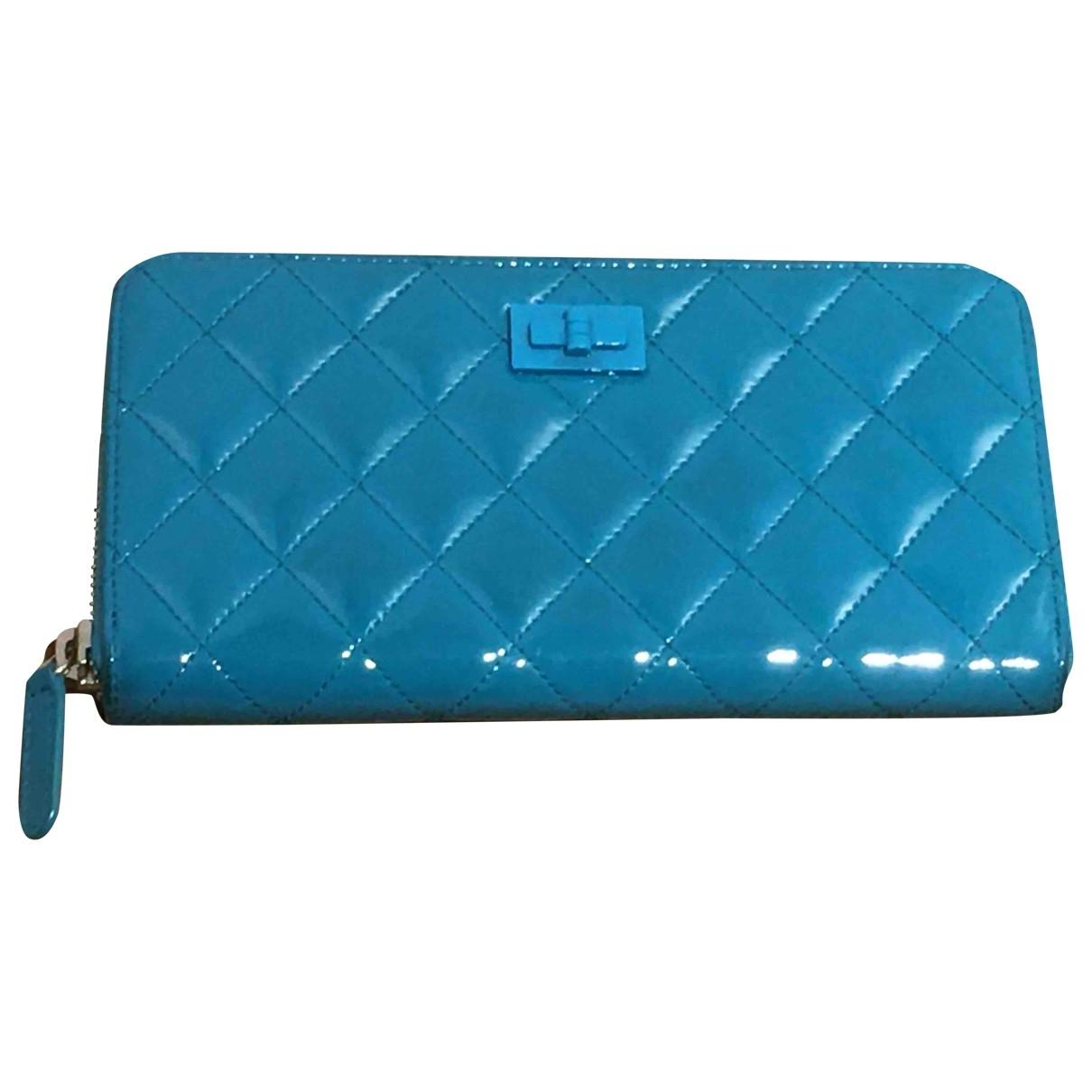 Chanel - Portefeuille Timeless/Classique pour femme en cuir verni - turquoise