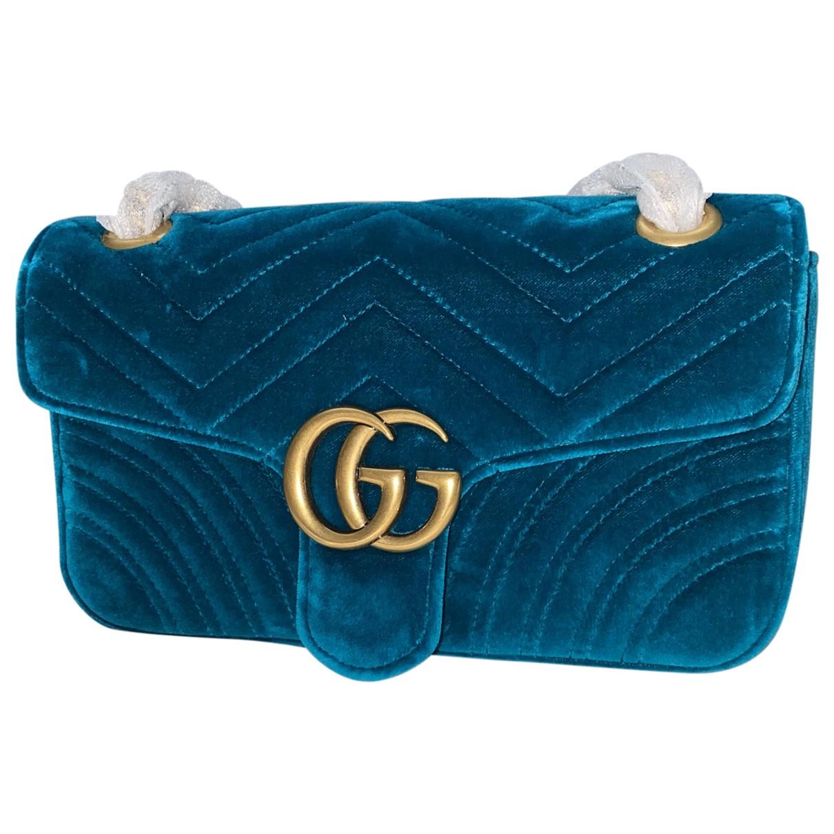 Gucci - Sac a main Marmont pour femme en velours