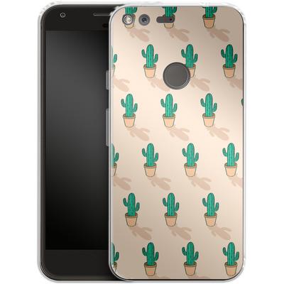 Google Pixel Silikon Handyhuelle - Cactus Pot von caseable Designs