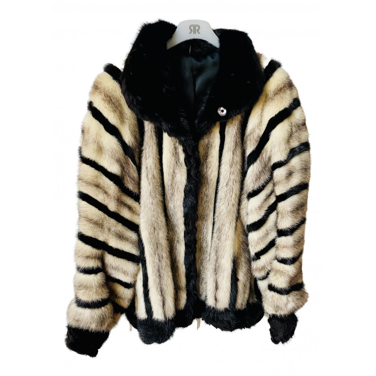 - Veste   pour femme en racoon - blanc