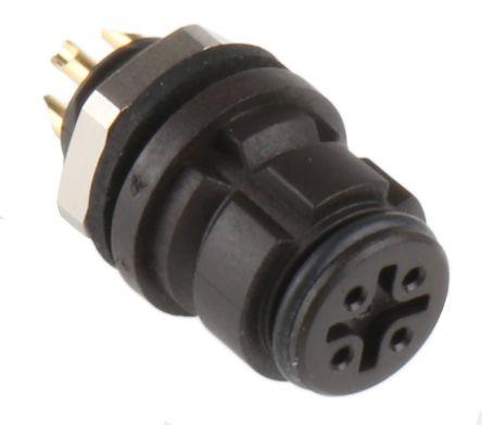 Binder Connector, 4 contacts Panel Mount Subminiature Socket, Solder IP67