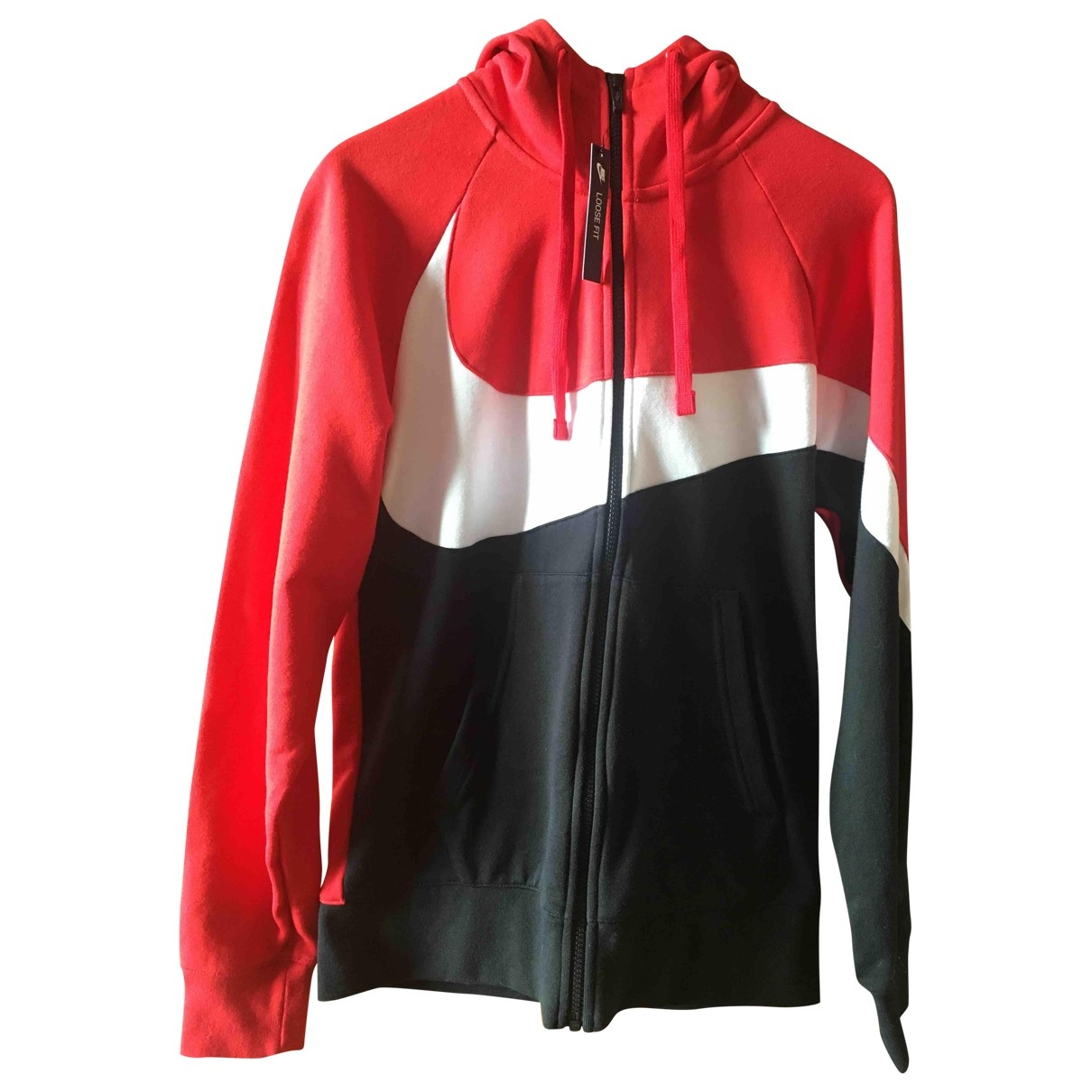 Nike \N Pullover.Westen.Sweatshirts  in  Schwarz Baumwolle