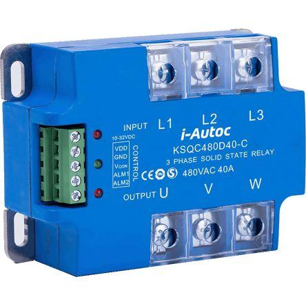 i-Autoc 60 A Solid State Relay, Zero Cross, Panel Mount, SCR, 530 V ac Maximum Load