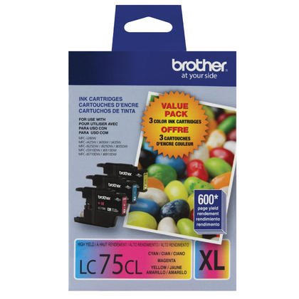 Brother LC753PKS Original Ink Cartridge Combo C/M/Y High Yield