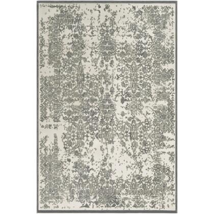 Aesop ASP-2308 9' x 12' Rectangle Traditional Rug in Sea Foam  Medium Gray