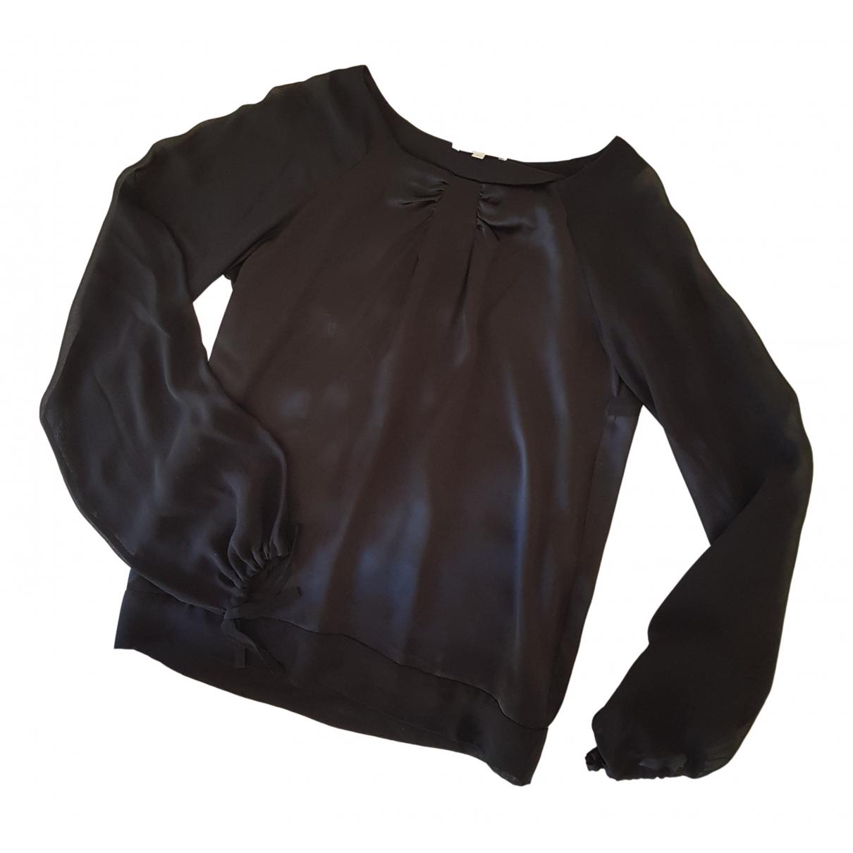Les Petites - Top   pour femme en soie - noir