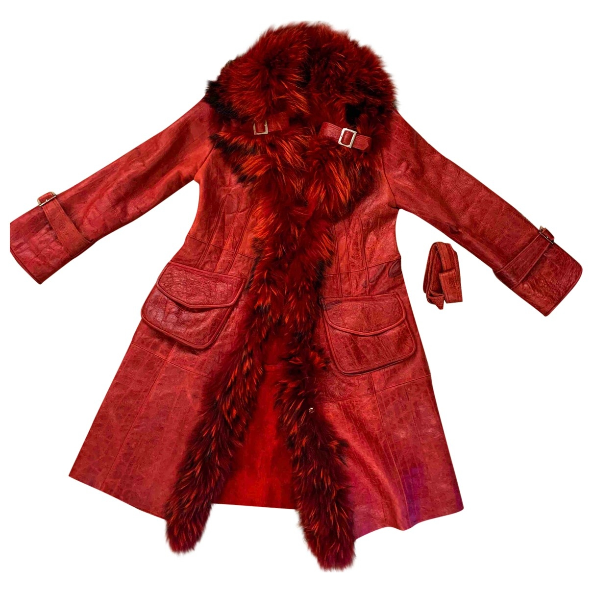Non Signé / Unsigned \N Red Raccoon jacket for Women XXL International