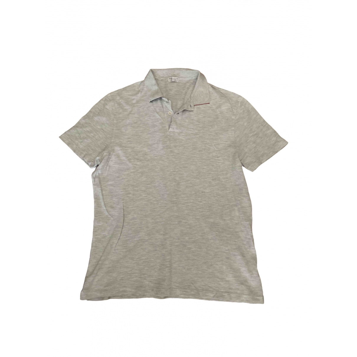 Brunello Cucinelli \N Grey Cotton Polo shirts for Men XL International