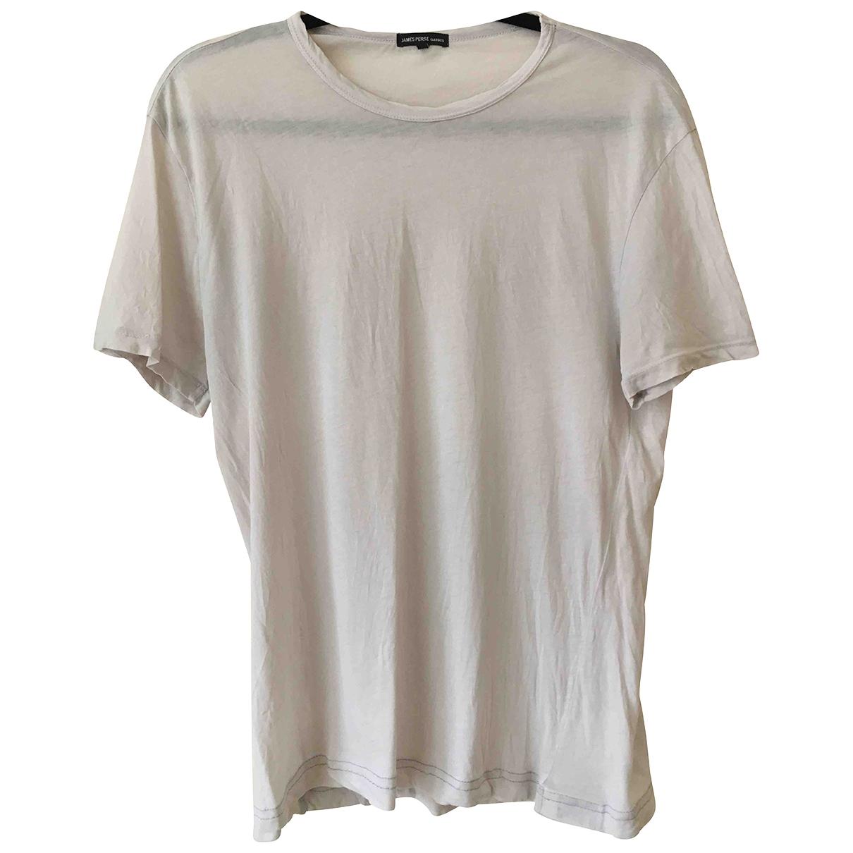 James Perse - Tee shirts   pour homme en coton - argente
