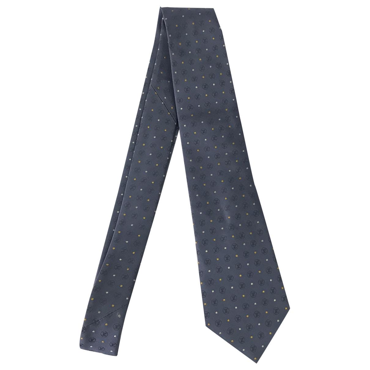 Louis Vuitton \N Krawatten in  Blau Seide