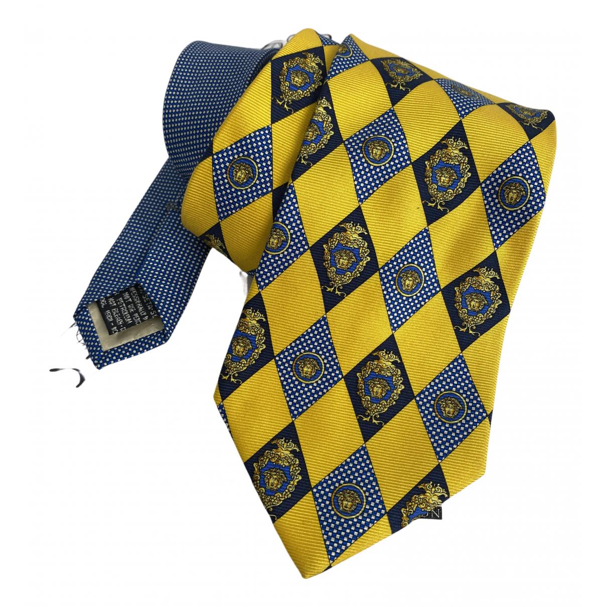 Gianni Versace - Cravates   pour homme en soie - jaune