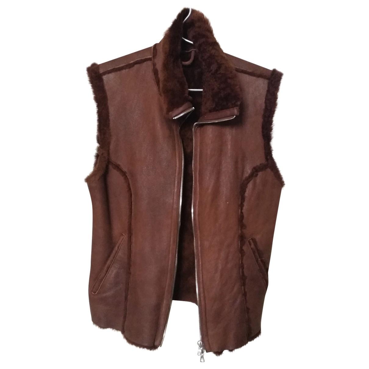 Pinko \N Brown Suede Knitwear for Women 44 IT