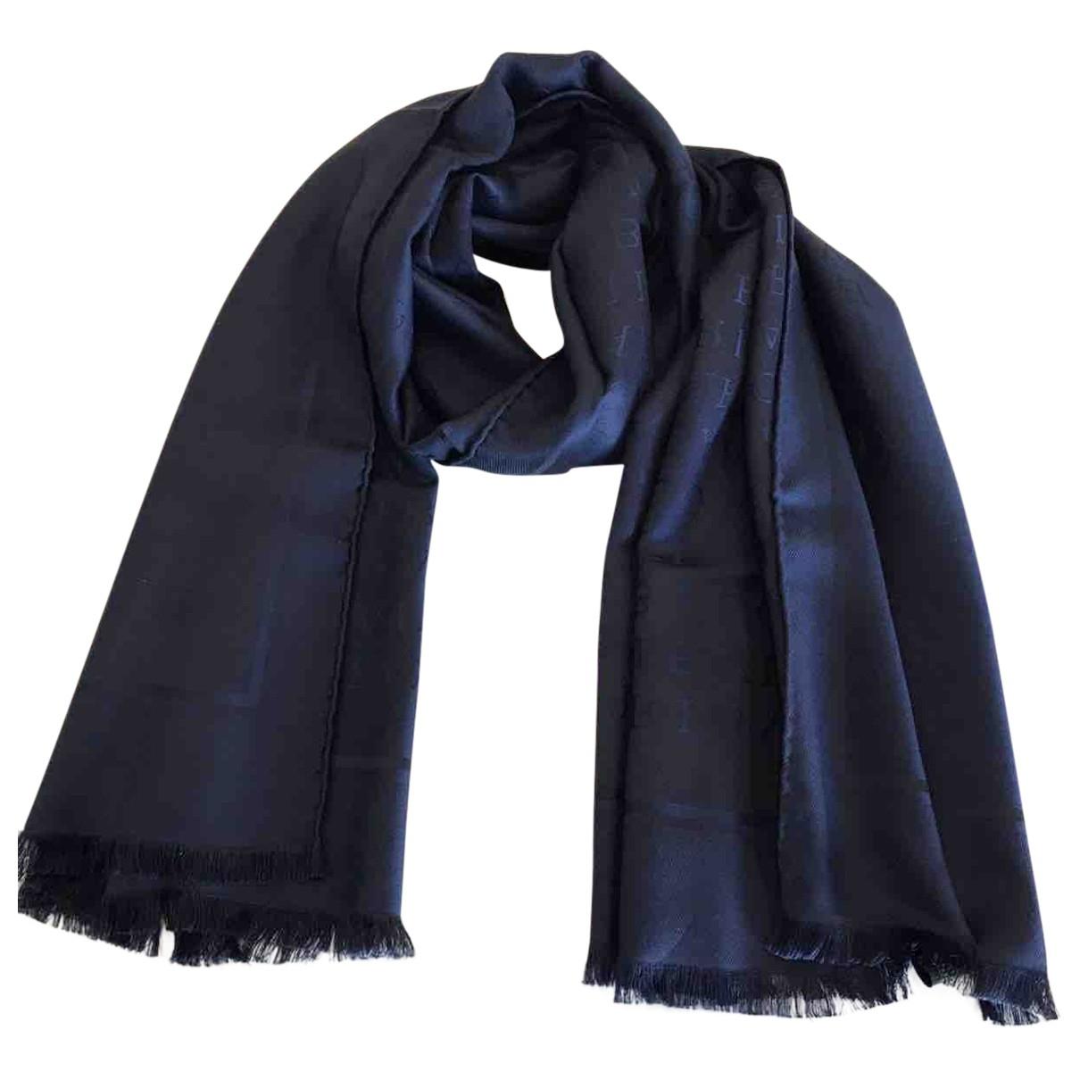 Bvlgari \N Navy Wool scarf for Women \N