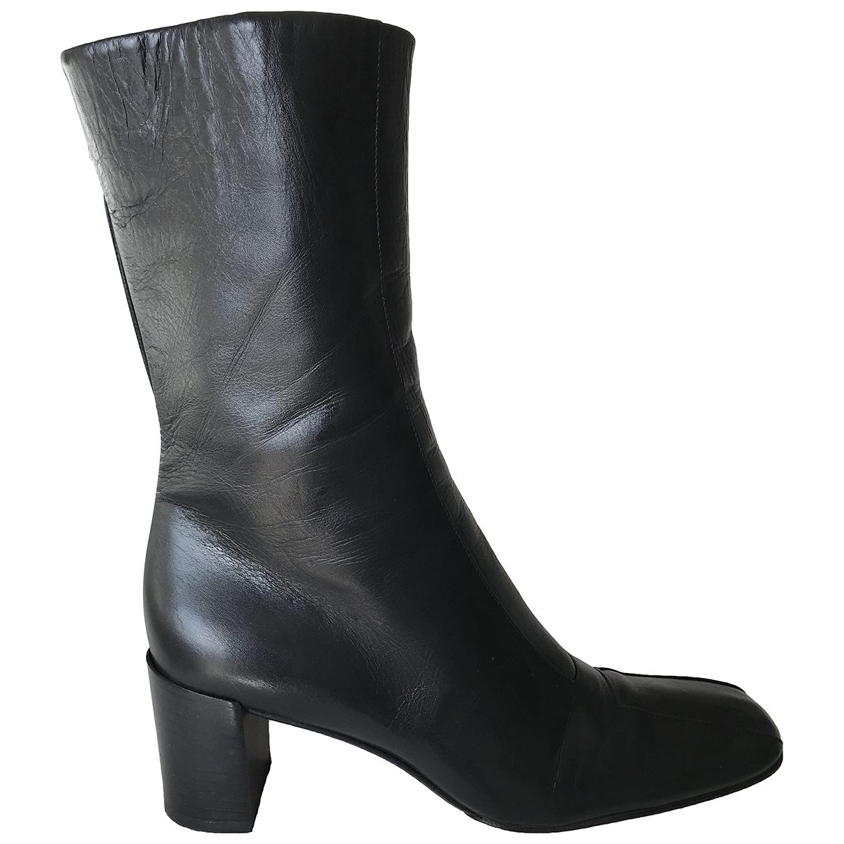 Bally N Black Leather Ankle boots for Women 37.5 EU