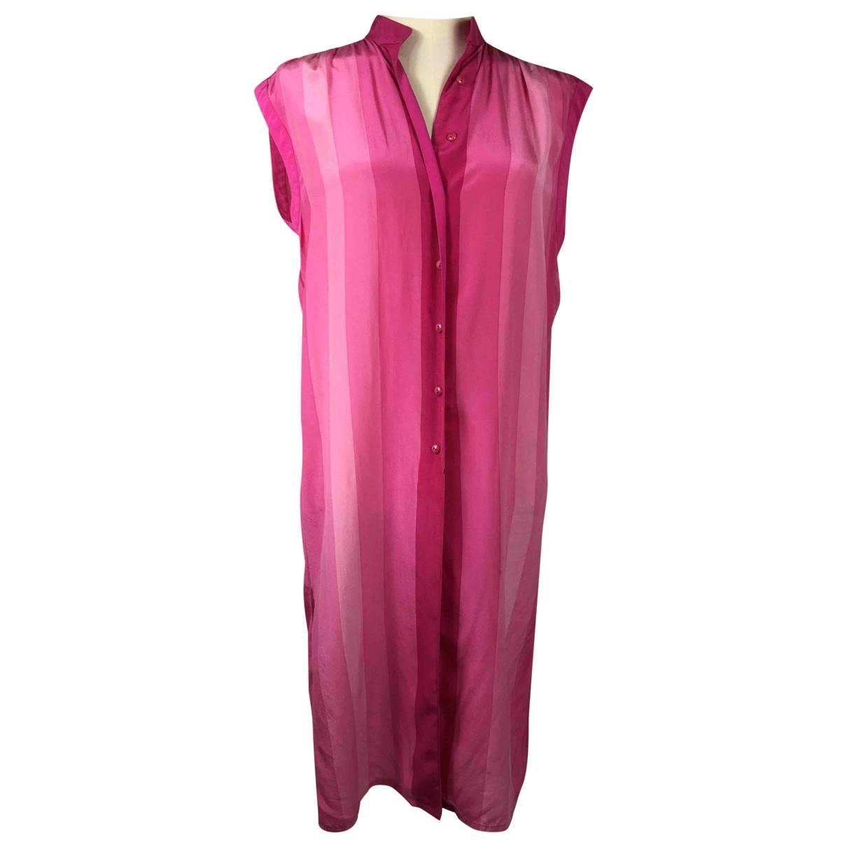 Louis Feraud \N Kleid in  Rosa Seide