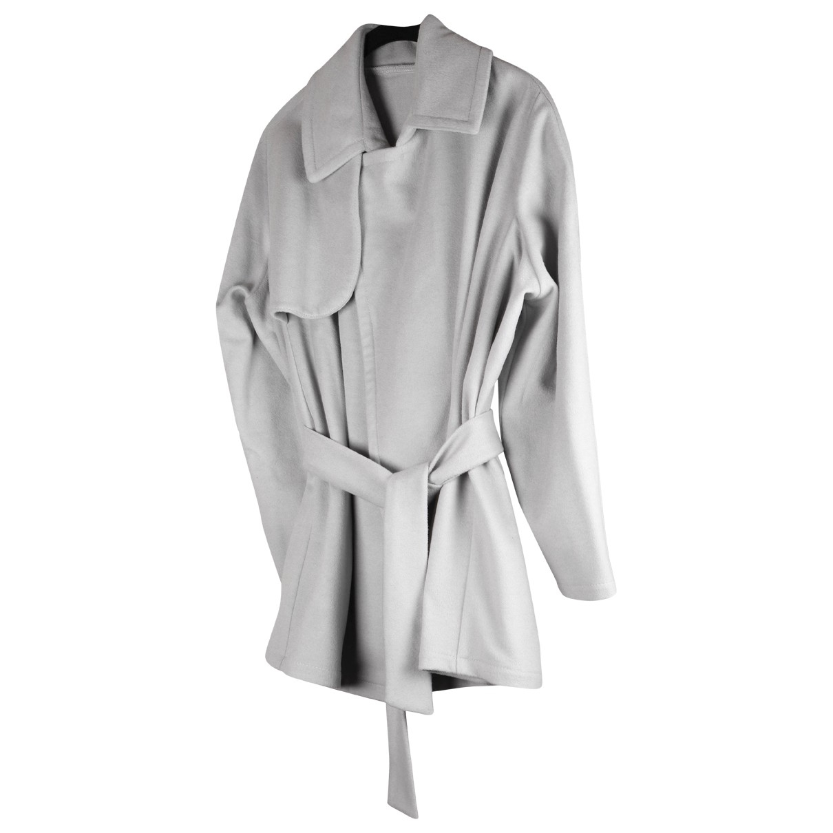 Non Signé / Unsigned \N Grey Wool jacket for Women 38 FR