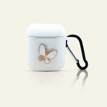 1 pieza funda de airpods con mariposa