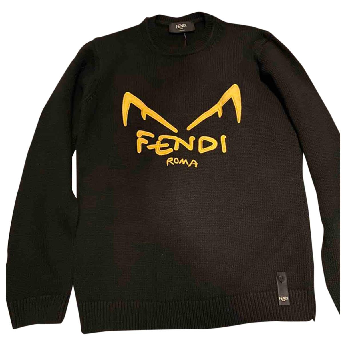 Fendi \N Pullover.Westen.Sweatshirts  in  Schwarz Wolle