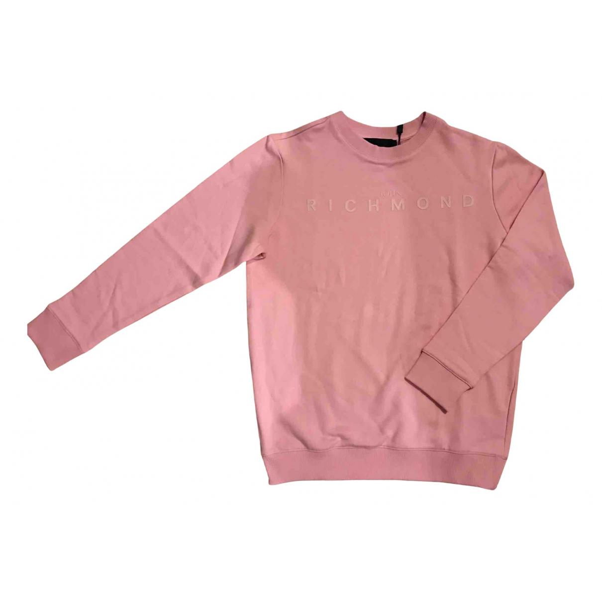 John Richmond - Pulls.Gilets.Sweats   pour homme en coton - rose