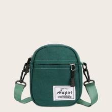Mini Letter Patch Crossbody Bag