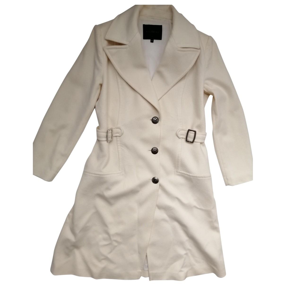 John Richmond - Manteau   pour femme en laine - blanc