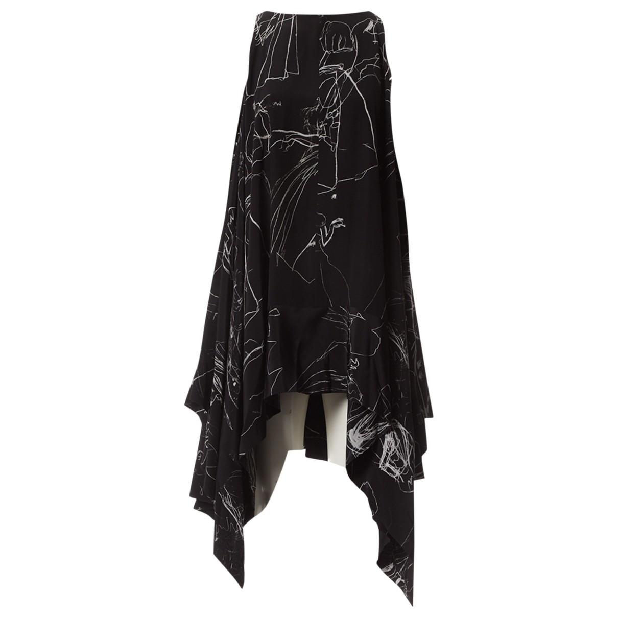Alexander Mcqueen - Top   pour femme en soie - noir