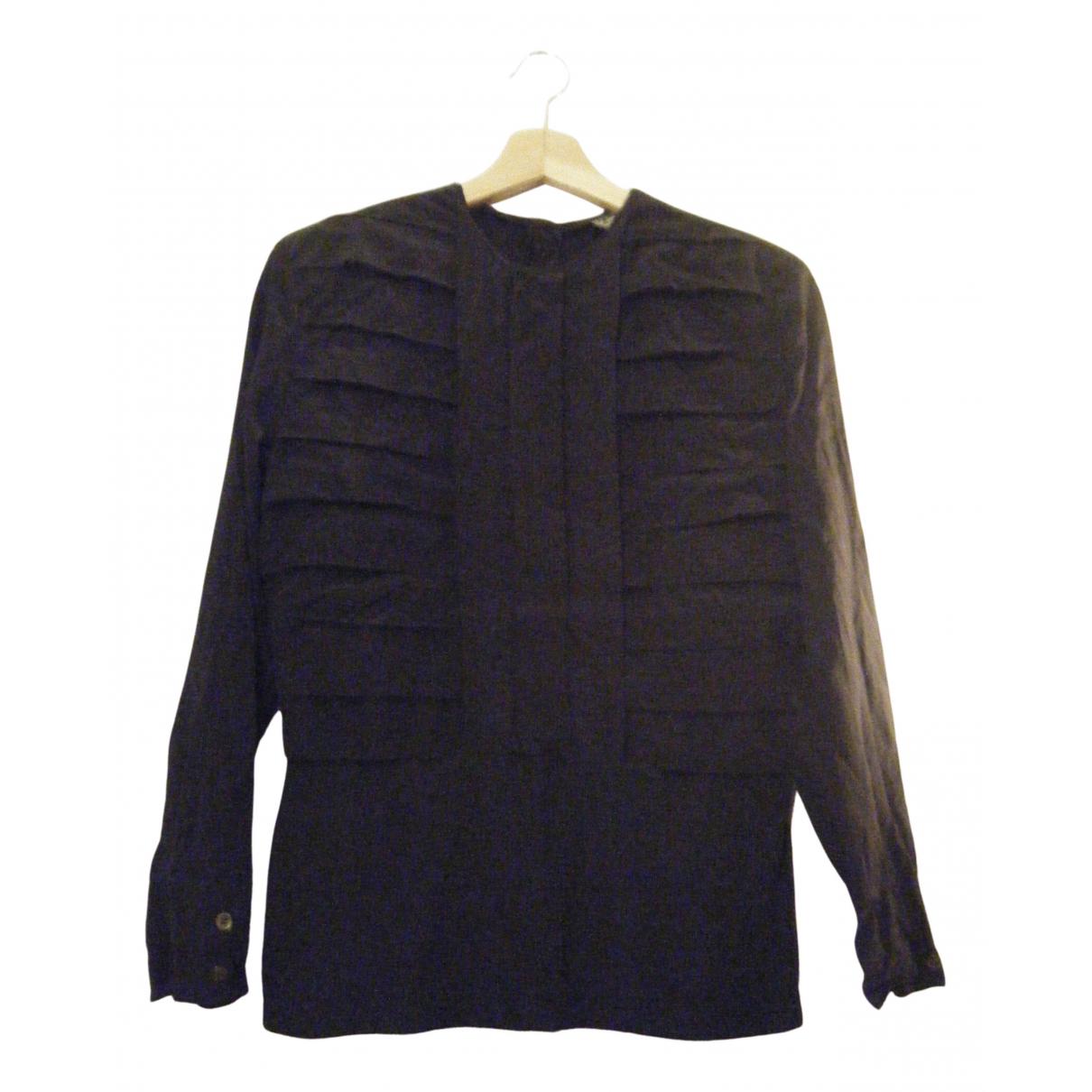 Giorgio Armani - Top   pour femme en soie - noir