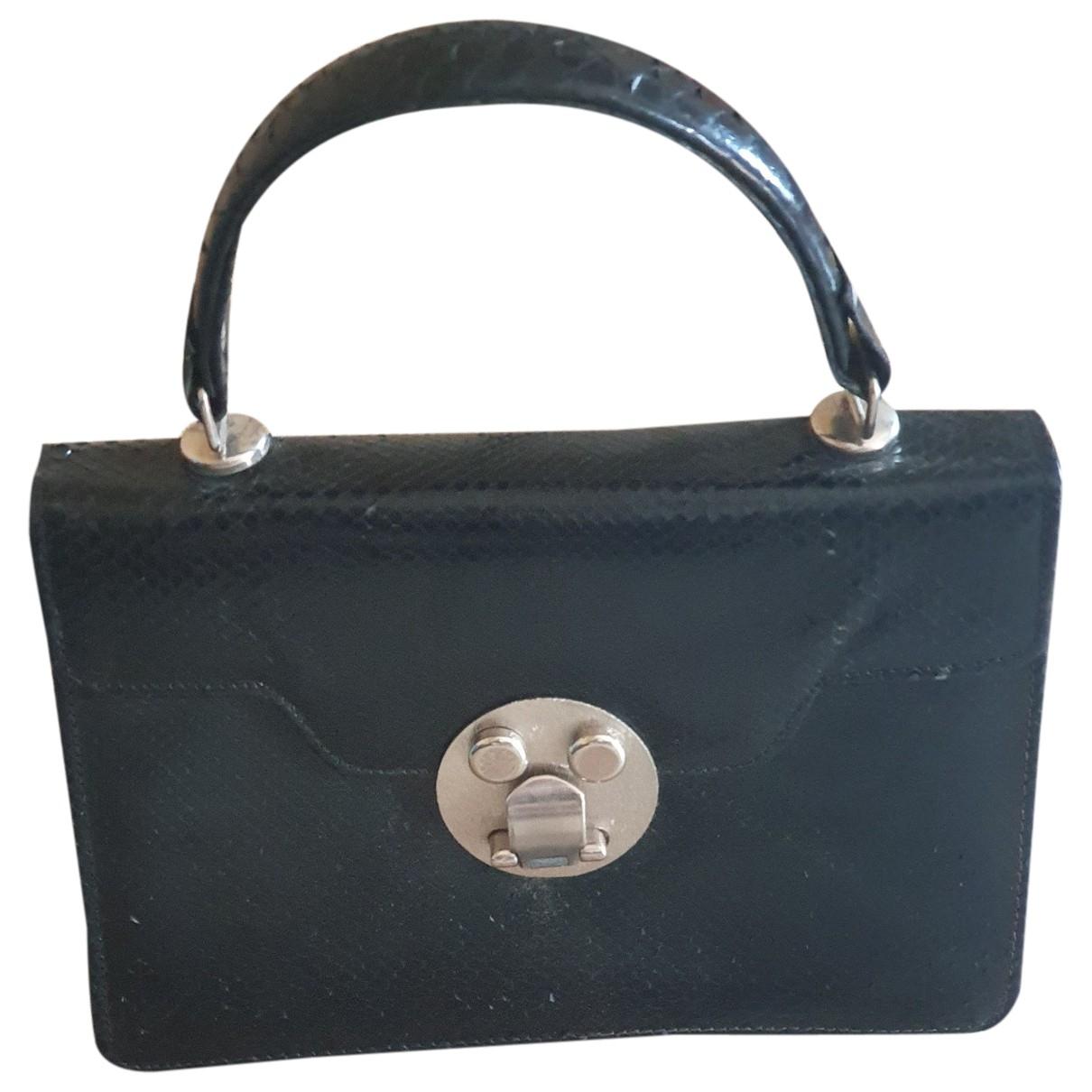 Non Signe / Unsigned \N Handtasche in  Schwarz Echse