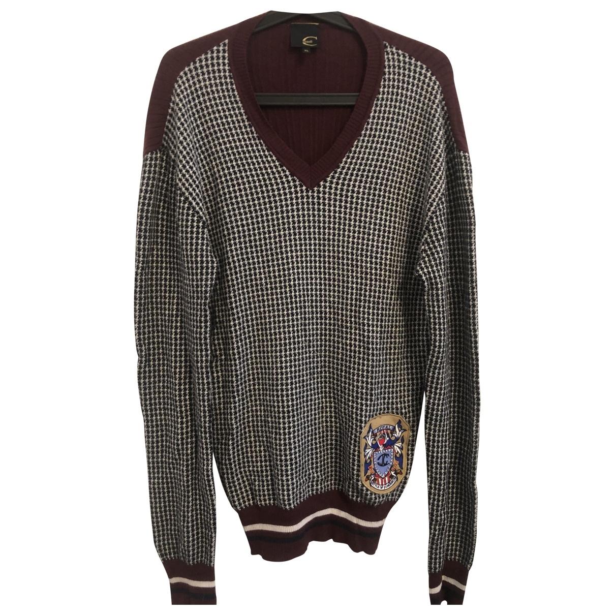 Just Cavalli \N Pullover.Westen.Sweatshirts  in  Bordeauxrot Polyester