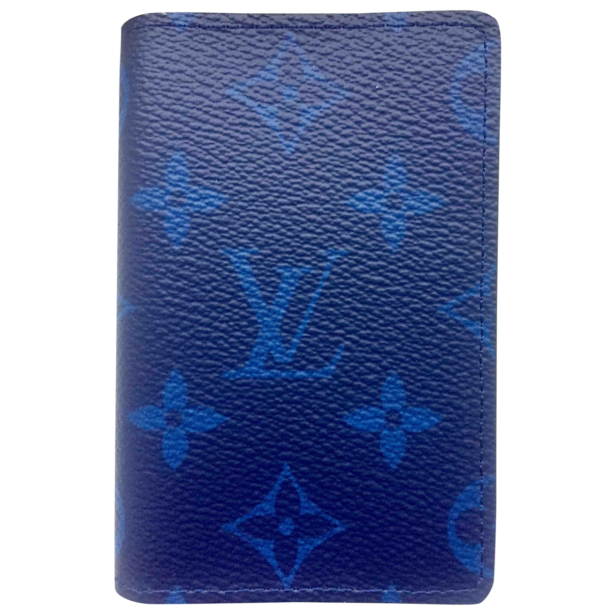 Louis Vuitton Pocket Organizer Blue Leather Small bag, wallet & cases for Men \N