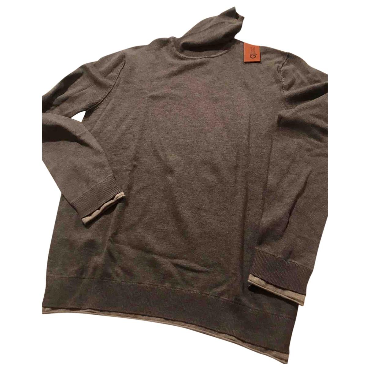 Non Signe / Unsigned \N Pullover.Westen.Sweatshirts  in  Grau Viskose