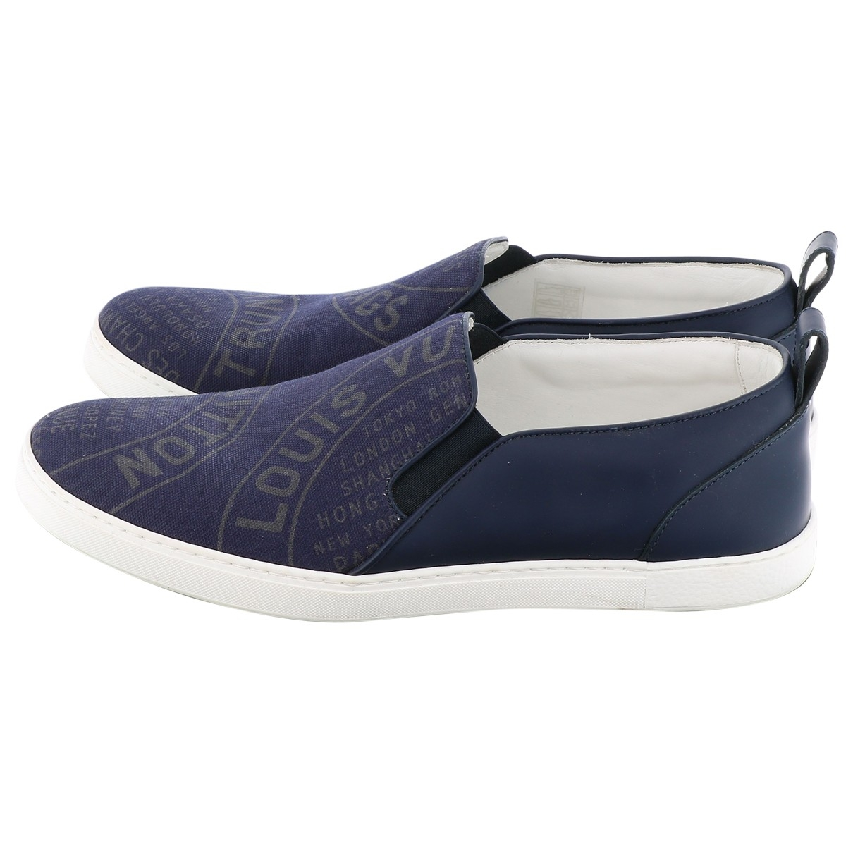 Louis Vuitton \N Blue Cloth Trainers for Women 7.5 US