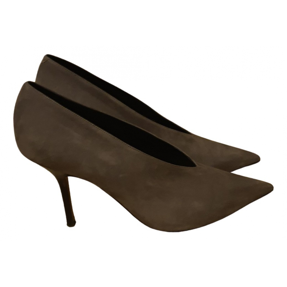 Celine - Escarpins Soft V Neck pour femme en suede - gris