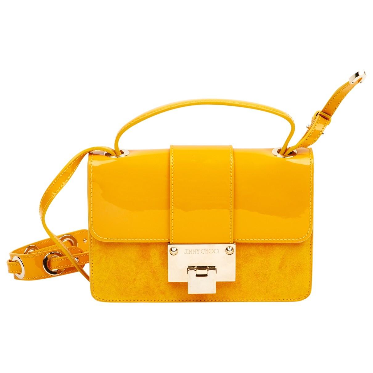Jimmy Choo \N Handtasche in  Gelb Lackleder