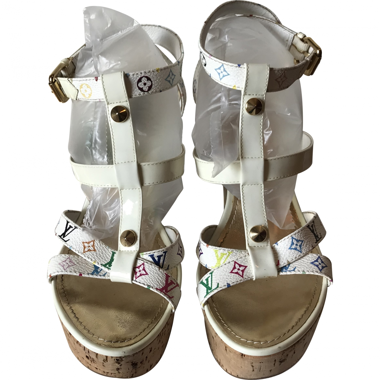 Louis Vuitton \N White Cloth Sandals for Women 39 EU