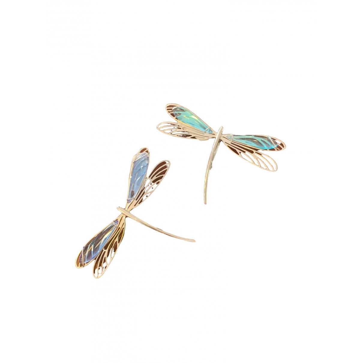 Lalique - Broche   pour femme en argent - bleu