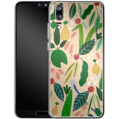 Huawei P20 Silikon Handyhuelle - Tropical Greens von Iisa Monttinen