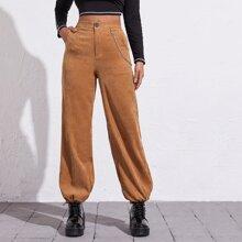 Pantalones bajo con cordon con cadena