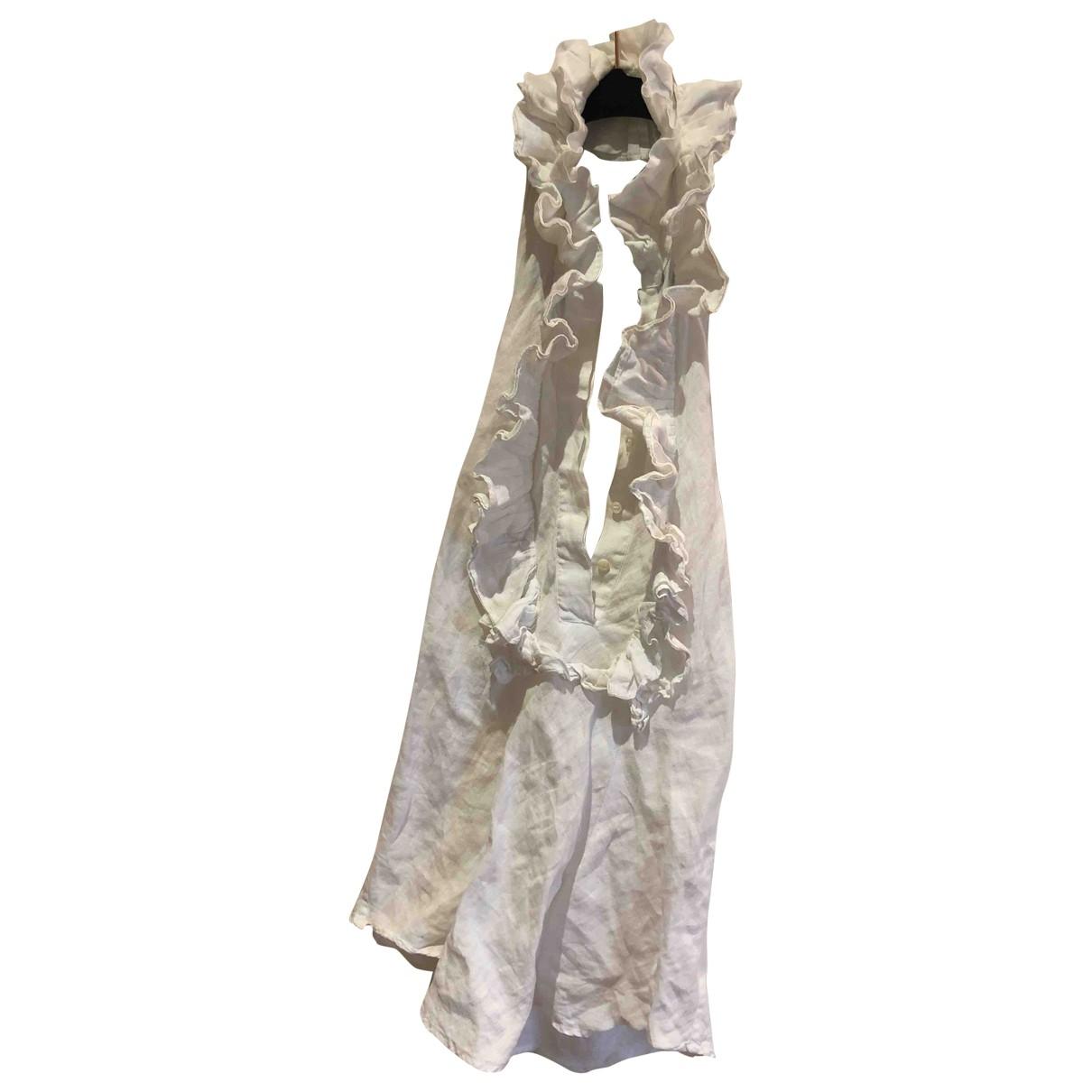 100% Capri \N White Linen  top for Women XS International
