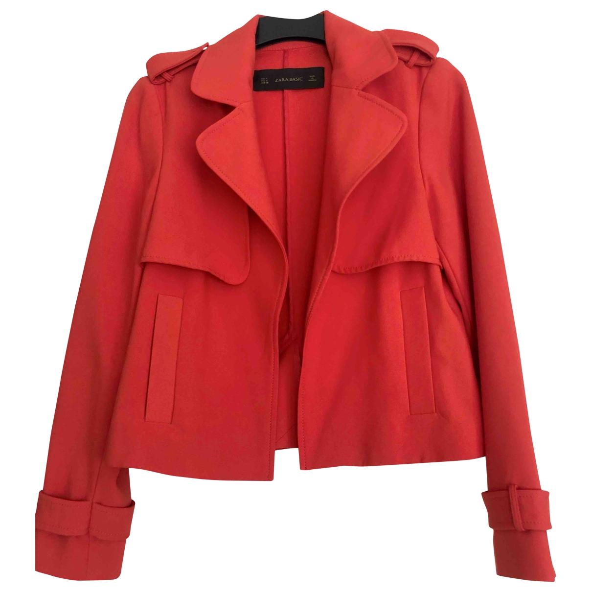 Zara - Veste   pour femme - rouge